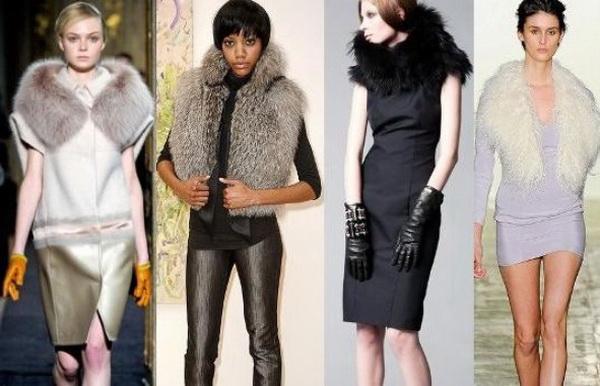 Модная одежда из меха 2012