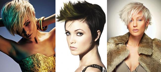 прически для коротких волос с челкой