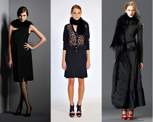 Модные зимние аксессуары 2012: меховые шарфы