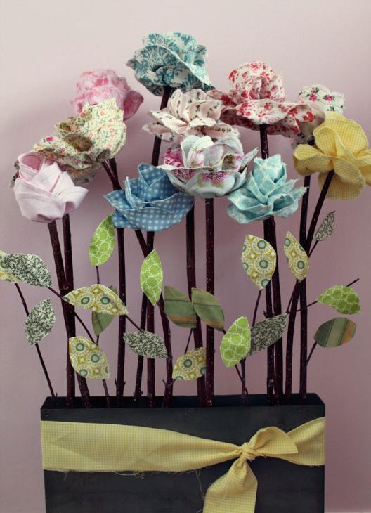 Цветы из лоскутков своими руками