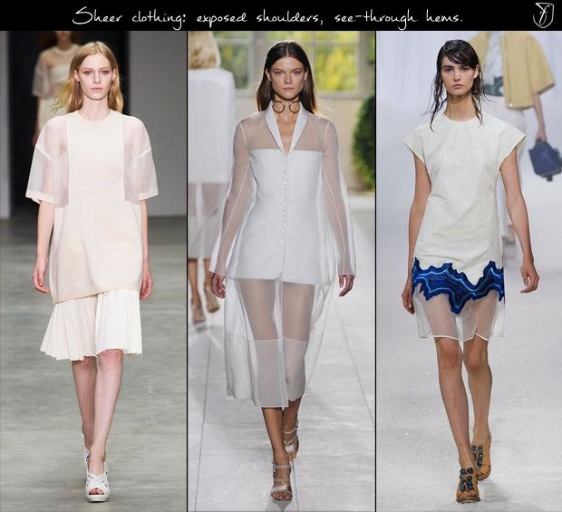 Calvin Klein, Balenciaga and 3.1 Phillip Lim, S/S '14