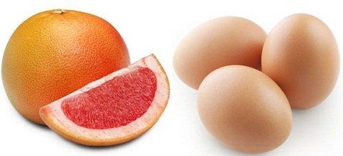 грейпфрут и яичный белок для похудения