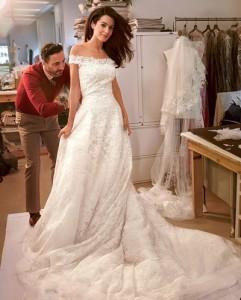 Амаль Аламуддин свадебное платье