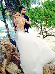 Полина Гагарина свадебное платье