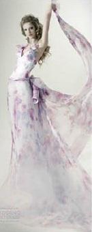 свадебное платье с цветочным принтом-1