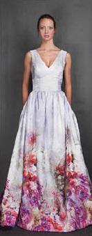свадебное платье с цветочным принтом-3