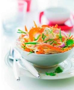 Тайский салат с цитрусовой заправкой