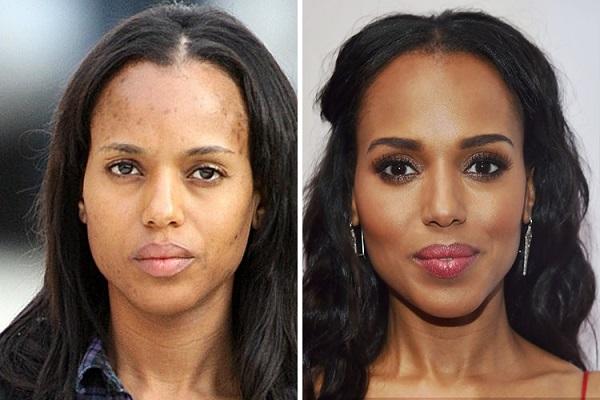 знаменитости без макияжа: Керри Вашингтон