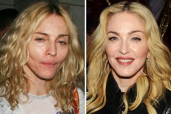 Знаменитости без макияжа: Мадонна