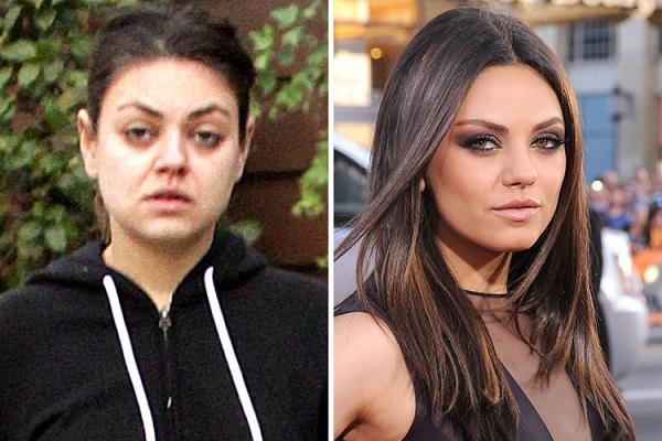 Знаменитости без макияжа: Мила Кунис