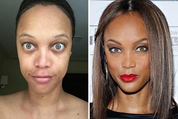Знаменитости без макияжа: Тайра Бэнкс