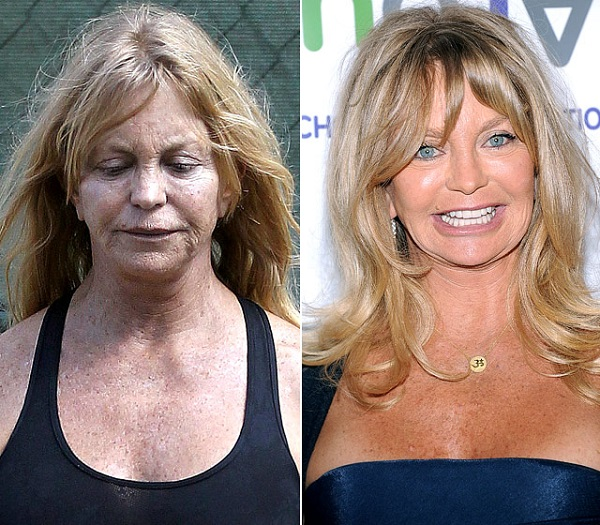 Знаменитости без макияжа: Голди Хоун