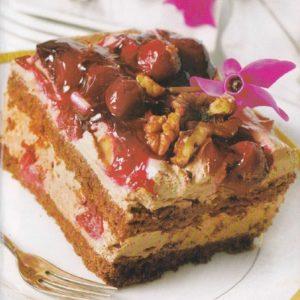 Кофейный торт с вишней
