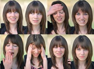 Woman-facial-expressions
