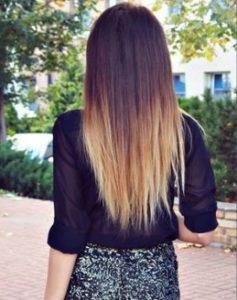 как освежить темный цвет волос: омбре
