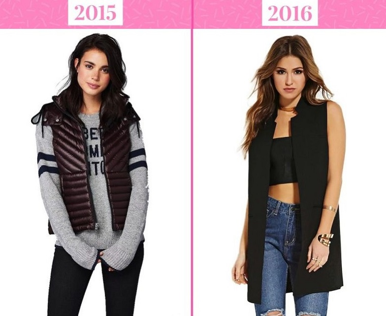тренды моды 2016: удлиненные жилеты