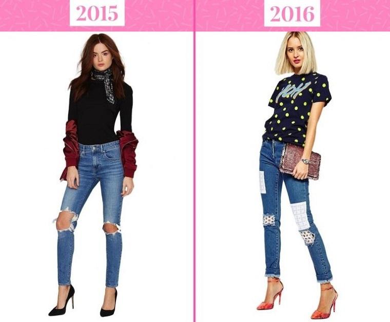 тренды моды 2016: джинсы с заплатками