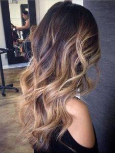 как освежить темный цвет волос: балаяж