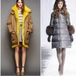 дутые пальто женские