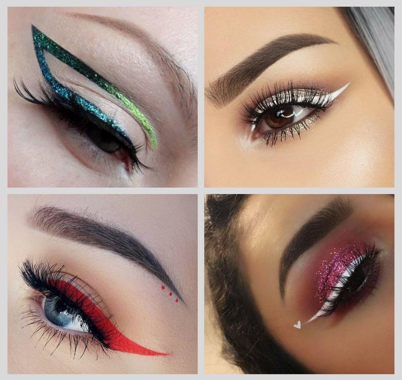 тренды макияжа 2018: графика в ярком цвете