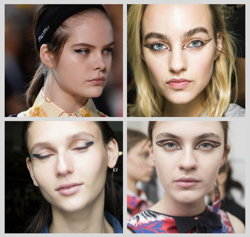 тренды макияжа 2018: небрежные стрелки
